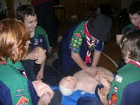 first aid night 2009 mentone scouts