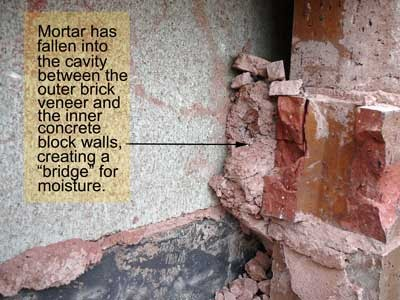 Construction Defects Mortar Bridging And Mortar Droppings