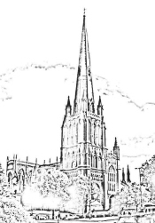 Bristol St. Mary Redcliffe (cartoon)
