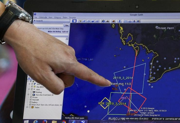 Original Search for MH370 south of Phu Quoc Island