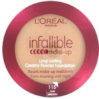 Product Information L Oreal Infallible Creamy Powder Foundation X 12 Make Up Resists Meltdown From Morning