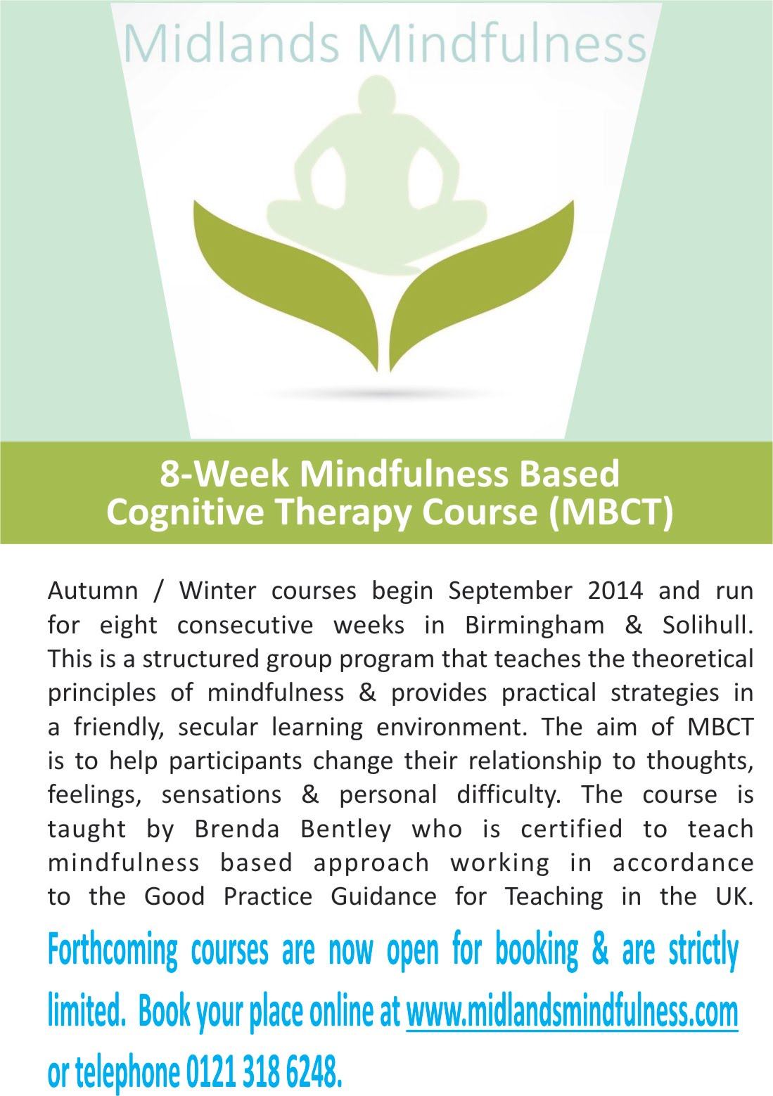 mindfulness courses in birmingham solihull leamington spa