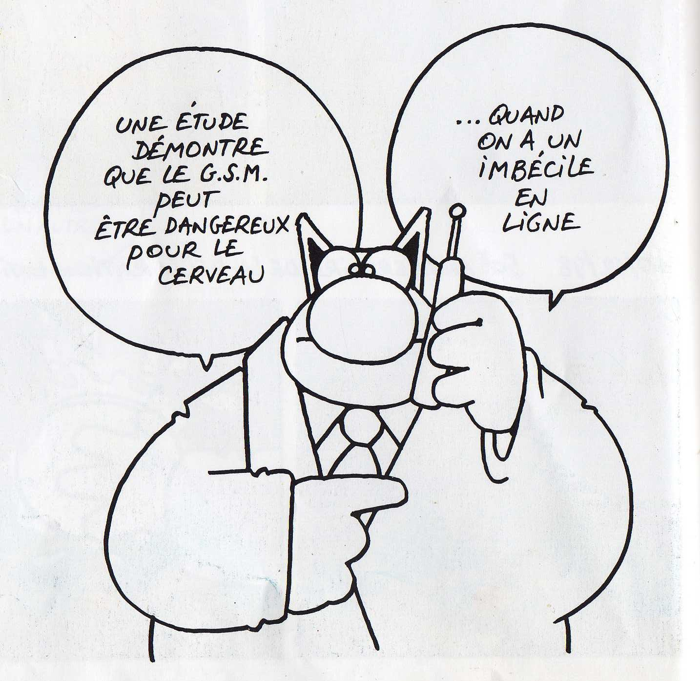 Phillipe Geluck le chat GSM