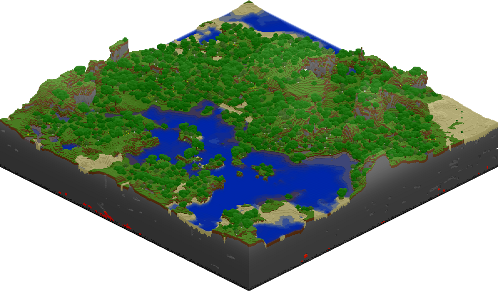 Old Example World 1: (Initial Land created by server   No MLG)