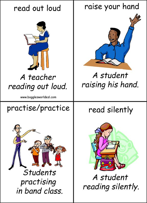 Classroom Phrases Stand Up Pictures
