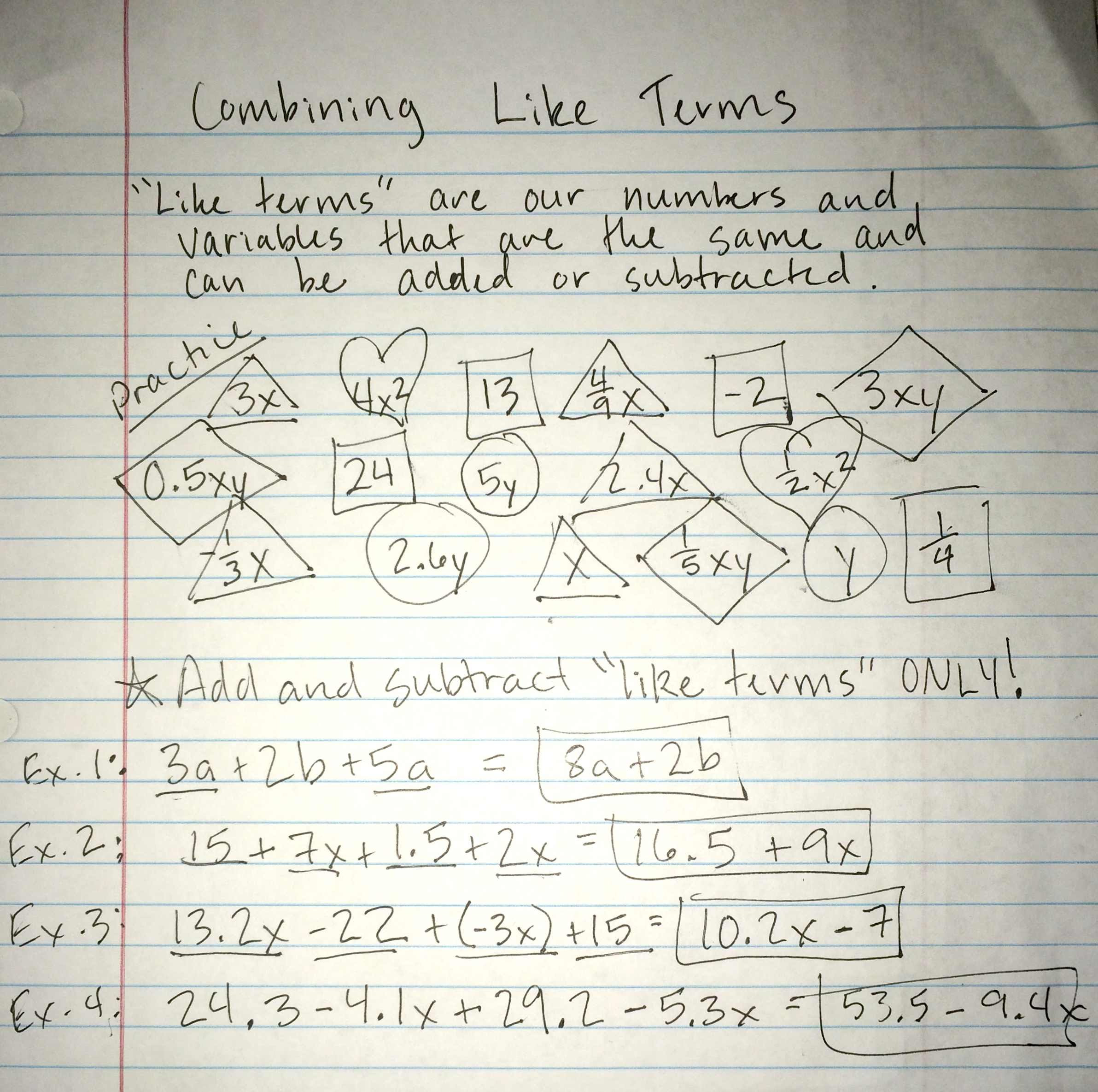Unit 2: Equations and Inequalities with Variables on Both ...
