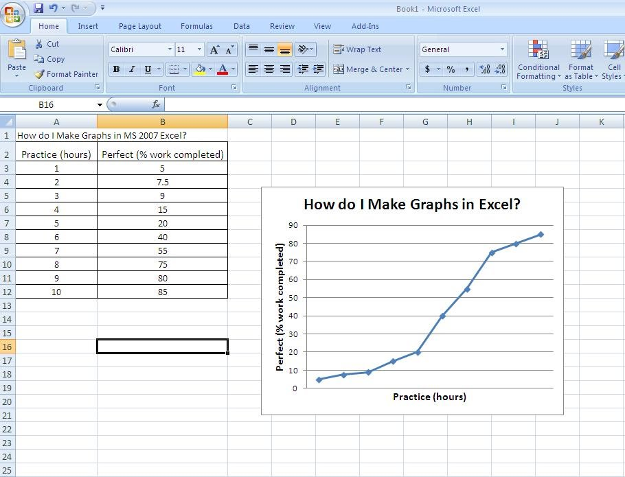 Tables/Charts/Graphs Tutorial (using MS Excel or Google Docs