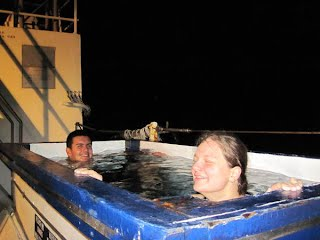 Hanna and Jonathan (the other Jonathan...) for their after-shift soak