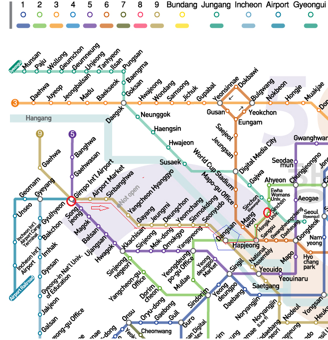 Gmp Subway Map.How To Get To Yonsei University From Gimpo Airport Seoul Model