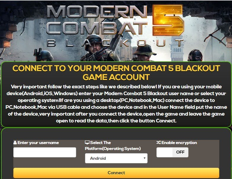 Modern Combat 5 Blackout Hack