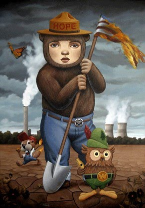painting smokey the bear nuclear power plant