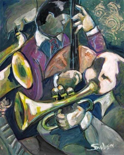 abstract jazz painting