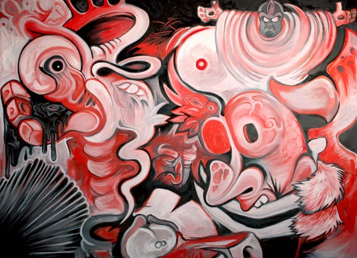 surreal abstract painting