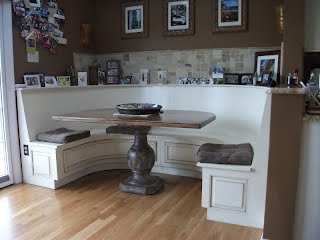 Custom made kitchen table and cabinets by Modern Lumber Of New Jersey