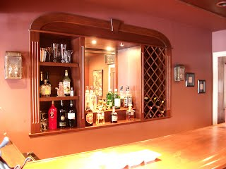 Built in bar and wine rack