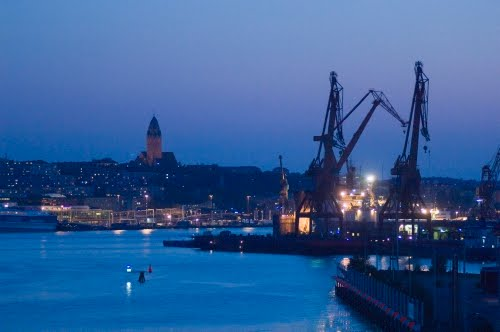 Evening view of Göteborg haven