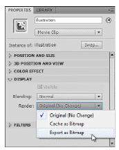 flash cs5.5 export bitmap