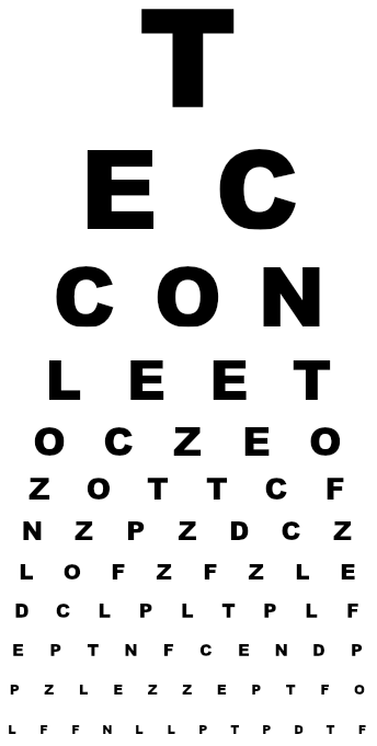 Digital Eye Chart Generator For Programmers And Computer Users