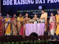 Celebration of BASANT UTSAB by MOHONA, Women's Association of Tripura University on the DDE Raising Day (19th March, 2014).