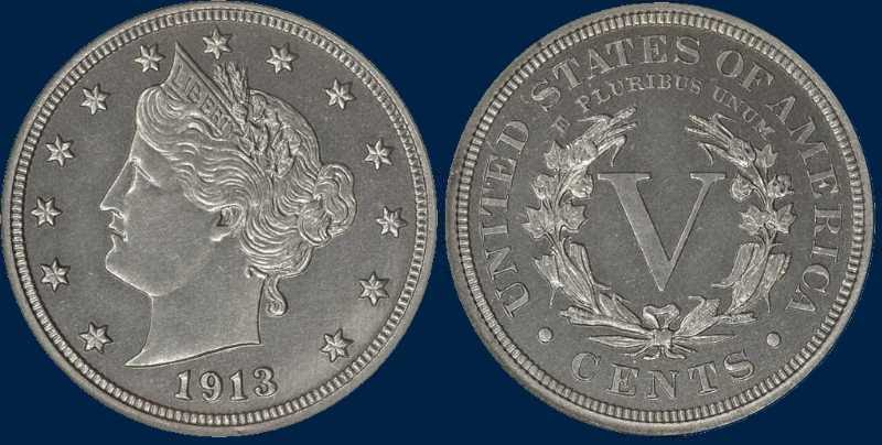 Liberty Head Nickel 1913 - most expensive coins