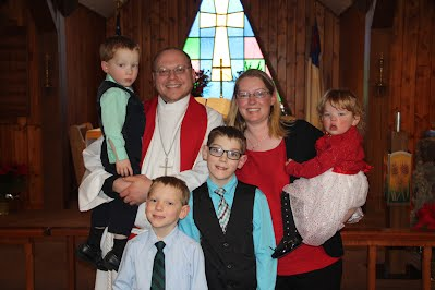 Pastor Schultz and family