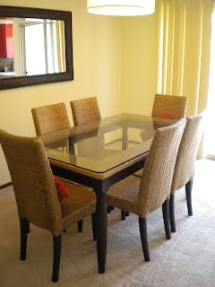 pier 1 dining table Pier 1 Wicker with Glass Top Dining Table Set w/ 6 Chairs   MOVING  pier 1 dining table