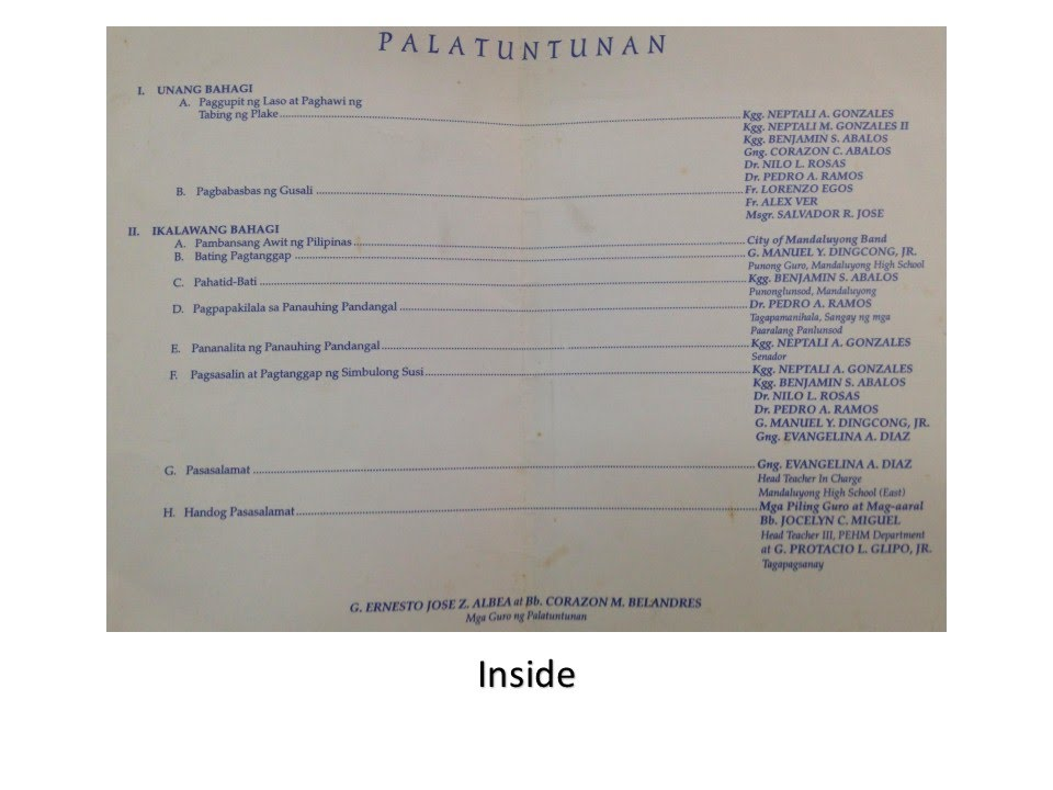 1997] Programme-Invitation to the Inauguration of the