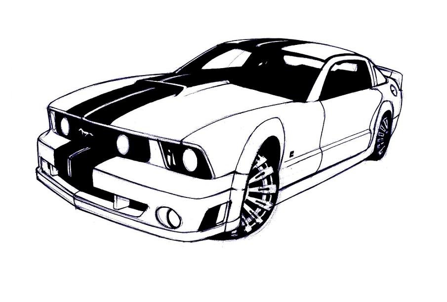 how to draw a ford mustang step by step. Black Bedroom Furniture Sets. Home Design Ideas