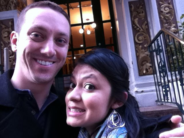 My girlfriend Sindy and I on a trip to New York City.
