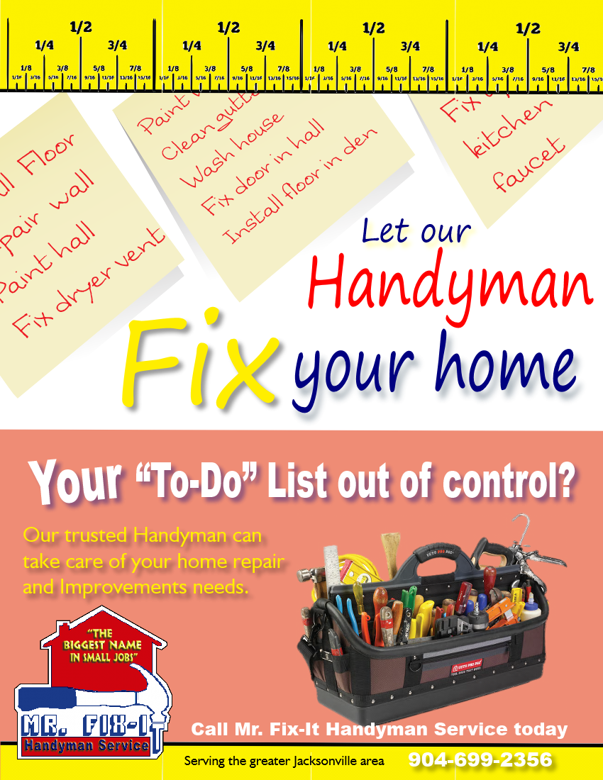 Mr Fix It Handyman Service Of Jacksonville