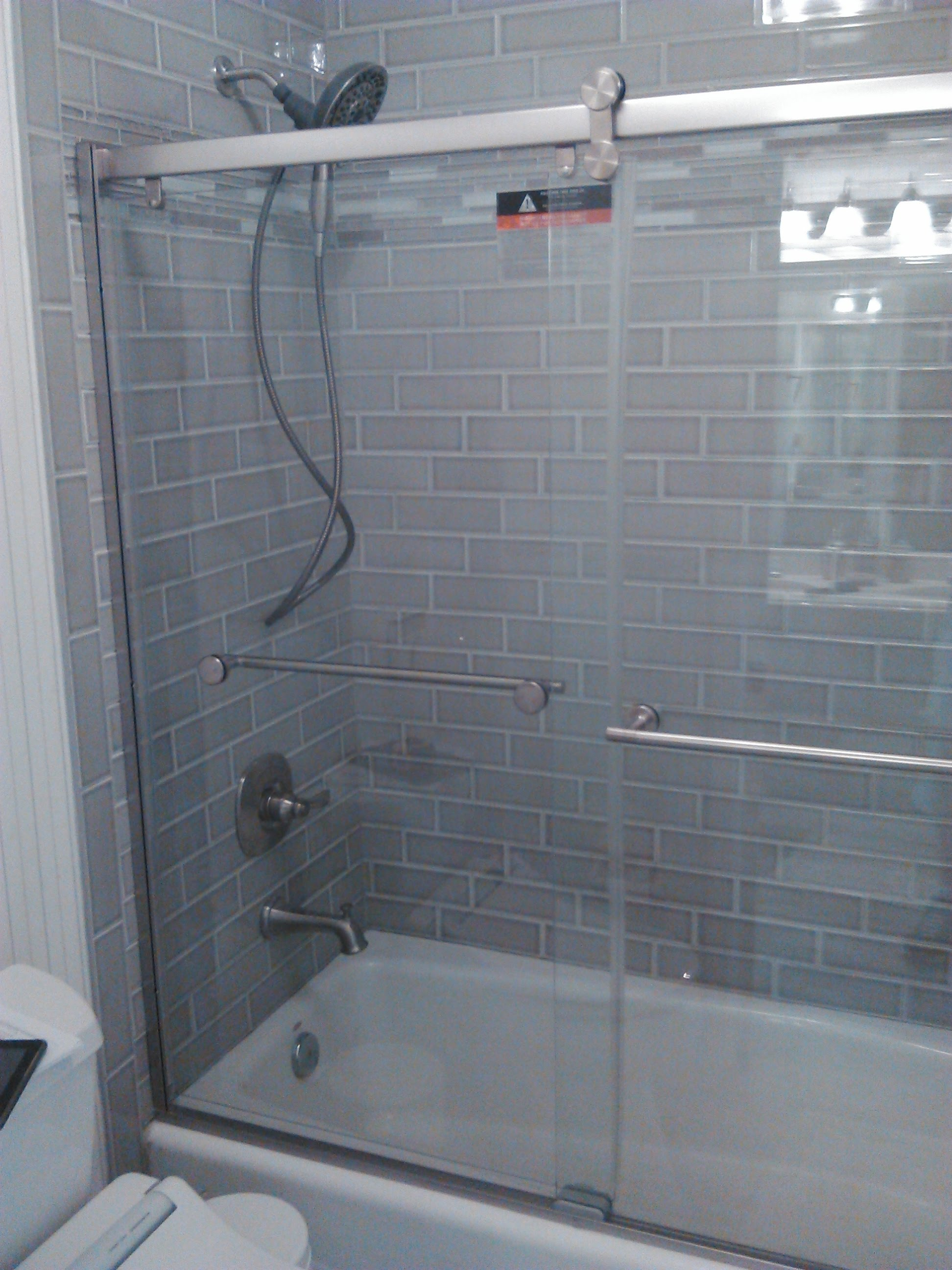 Shower door installation   Mr. Fix It Handyman Service of Jacksonville