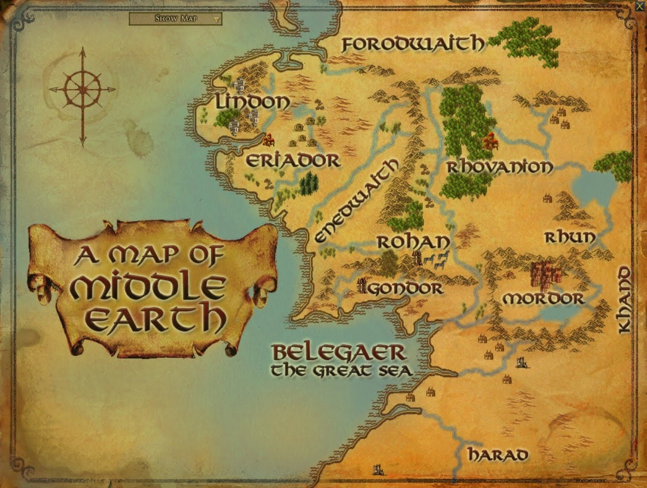 Map In Earth%0A The Hobbit Middle Earth Map Google Earth map to Middle Earth