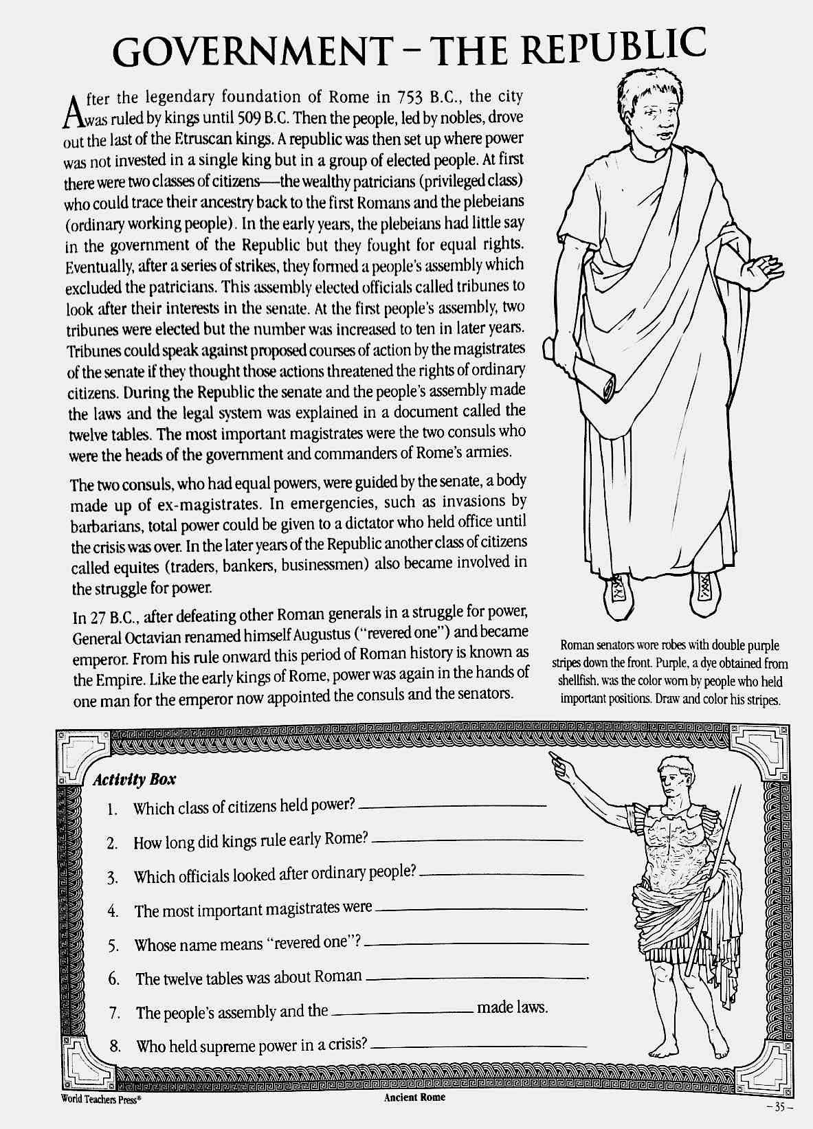 Uncategorized Ancient Rome Worksheets republic assignment mr macs ancient rome assignment