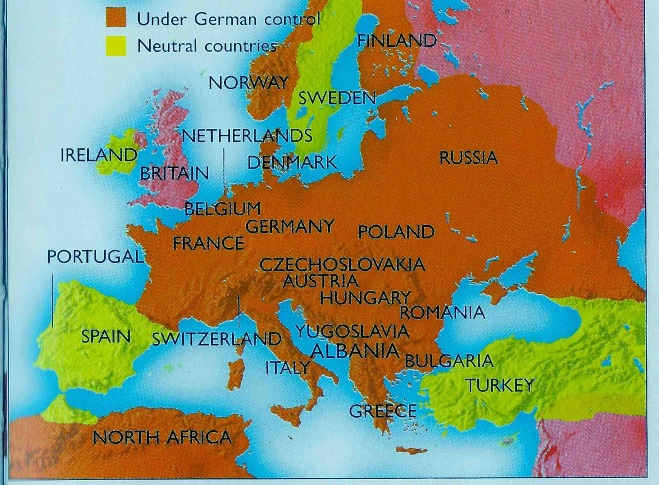 Slikovni rezultat za spain world war map