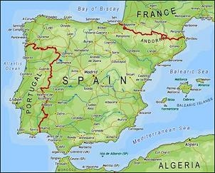Map Of Portugal And Spain Detailed.Spainandportugal Mrmartinnch