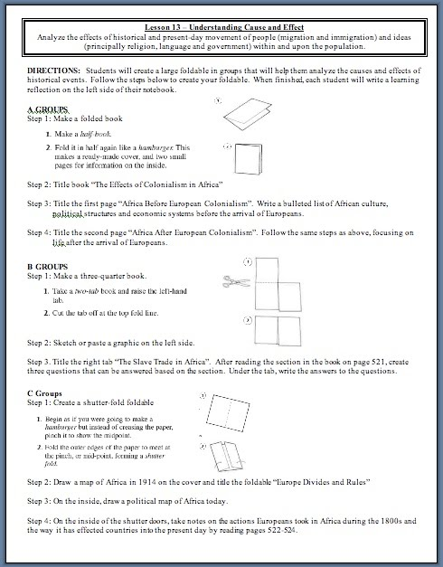Foldablegroupg reflection on foldable write a reflection that is one page long on what you learned about africa south of the sahara based on the group foldable that you sciox Images