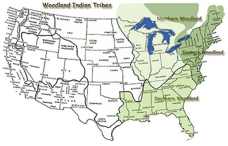 Eastern Woodland Indians Tribes Maps http://sites.google.com/site/mrsfranksclass/easternwoodlands