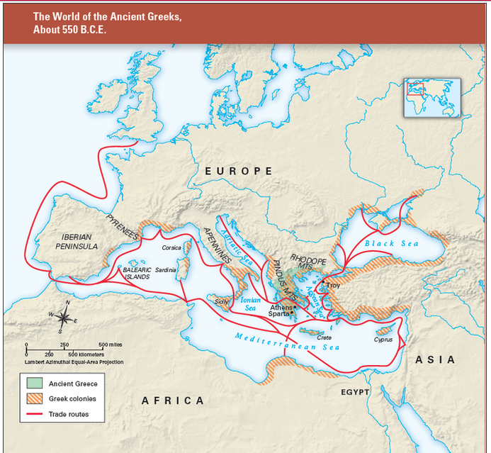 Ancient Greek World Map March 9, 2015   World History & Cultures with Mrs. Nail