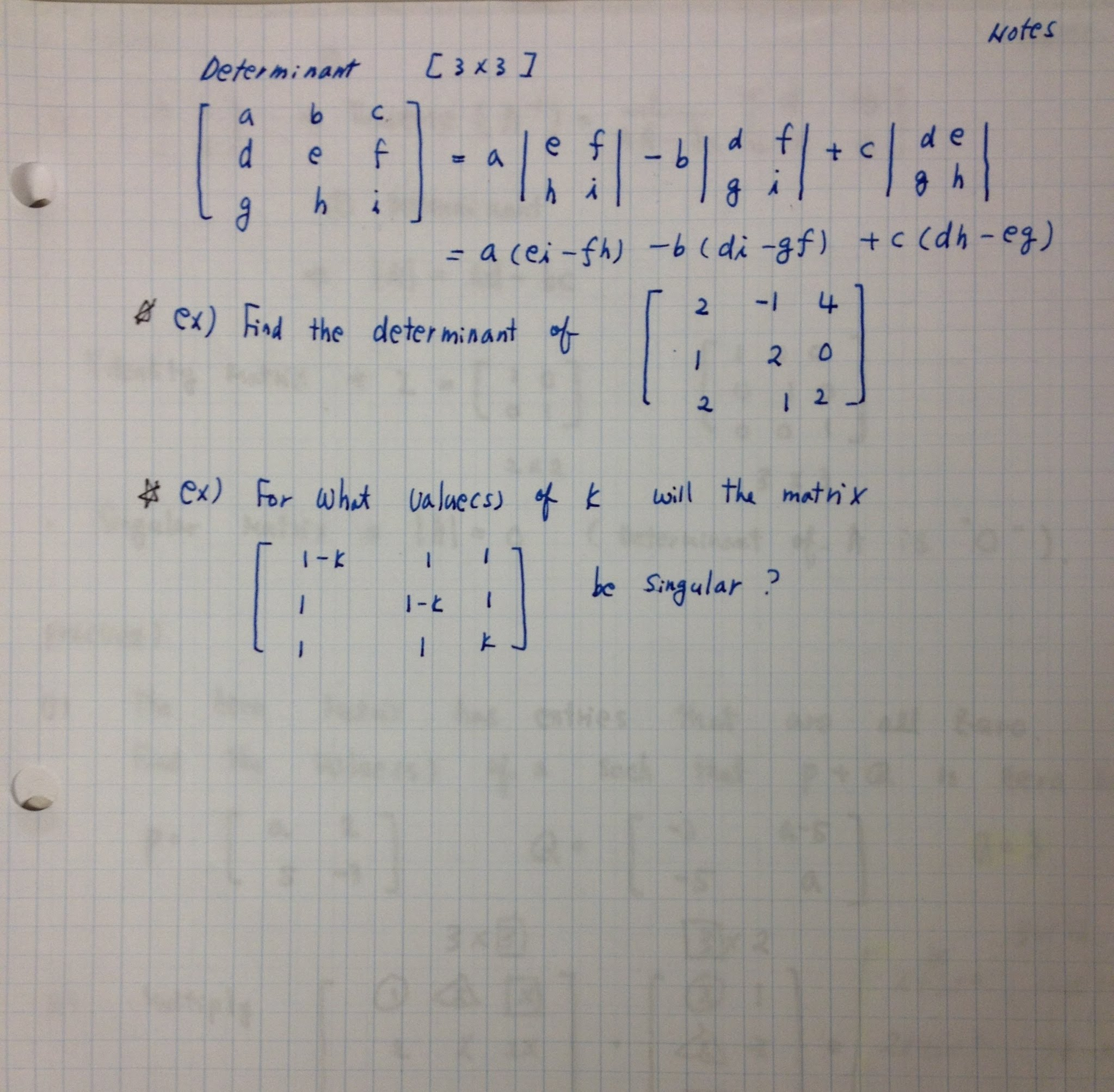 Math methods ii ib calculus mrs shims math class attachments determinant 3 by 3 notes robcynllc Choice Image