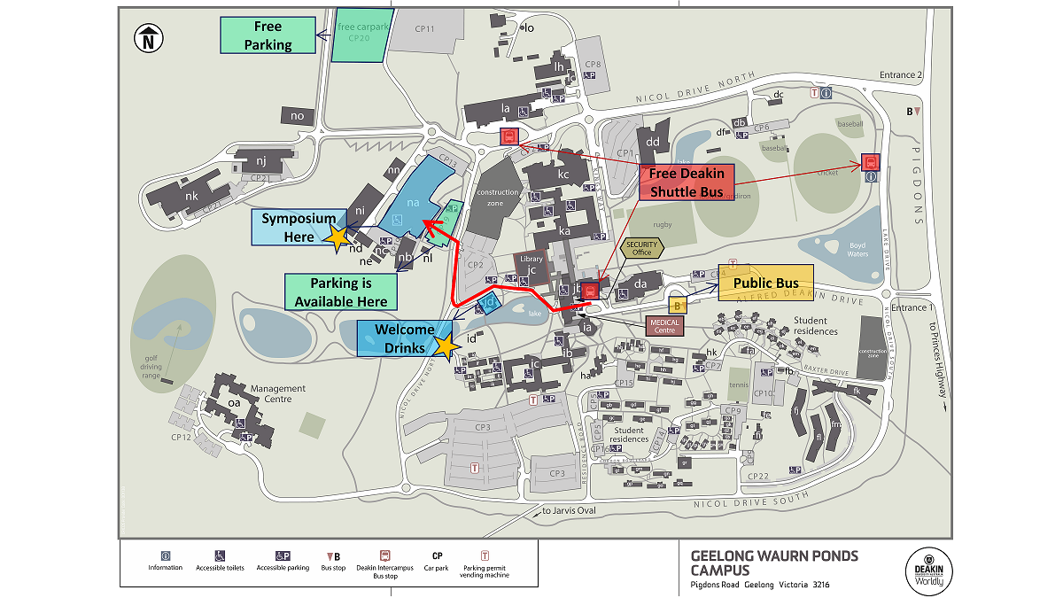 Deakin Waurn Ponds Map Venue Information   MSA ECR Symposium 2014