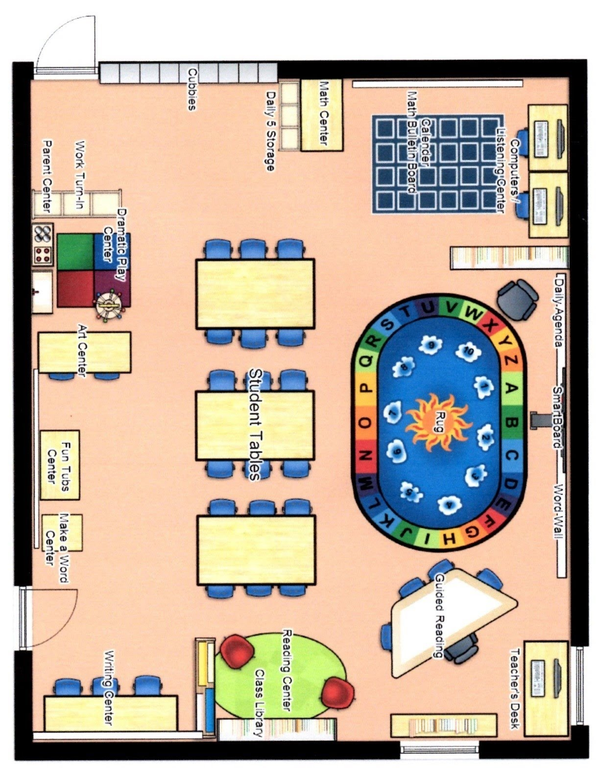 Creating a classroom floor plan conceptdraw helpdesk 29 for Make a room layout online