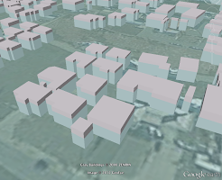 Simulation of inundation of buildings by tsunami