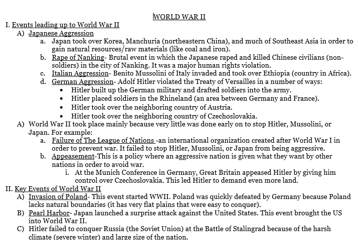 UNIT 6- WORLD WAR II - Ms. Gardner's Class Site o' AWESOME!
