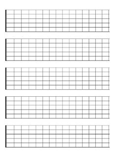 Modest image with printable guitar fretboard
