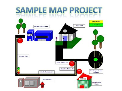 project 1 map ms word drawing tools