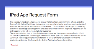 Request iPad App Form