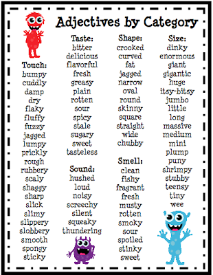 2  Monster Adjective Stories - Ms  Zare's Classroom Website