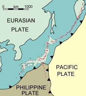 Image of tectonic plates near Japan. Taken from http://volcano.oregonstate.edu/vwdocs/volc_images/north_asia/japan_tec.html