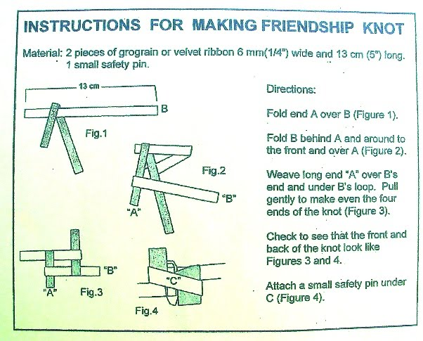 image relating to Knot Tying Guide Printable titled The WAGGGS Friendship Knot - Mt. Riverview Lady Books