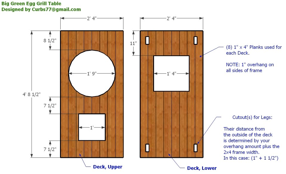 xl big green egg table plans | Woodworking Gear Plans
